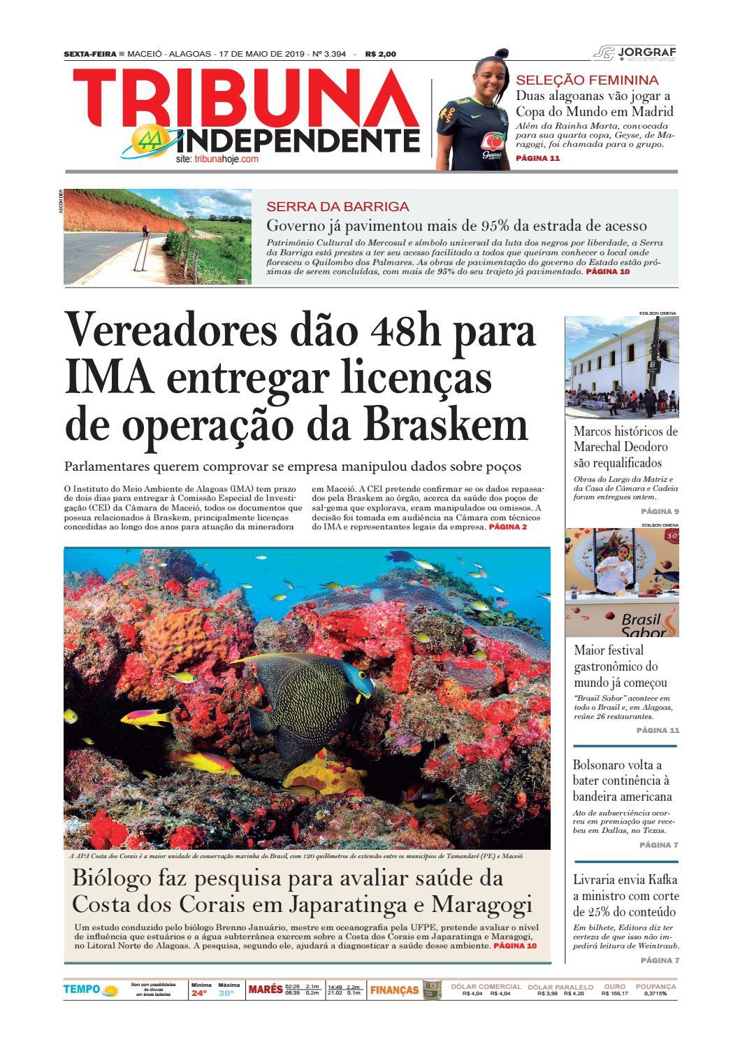 bade43531 Edição número 3394 - 17 de maio de 2019 by Tribuna Hoje - issuu