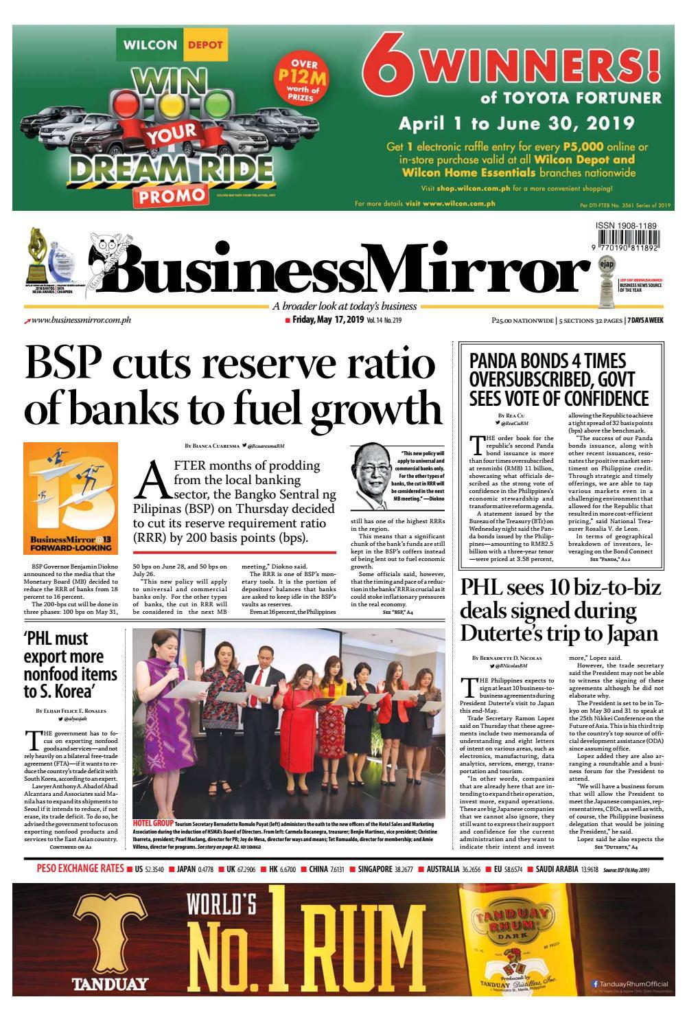 BusinessMirror May 17, 2019 by BusinessMirror - issuu