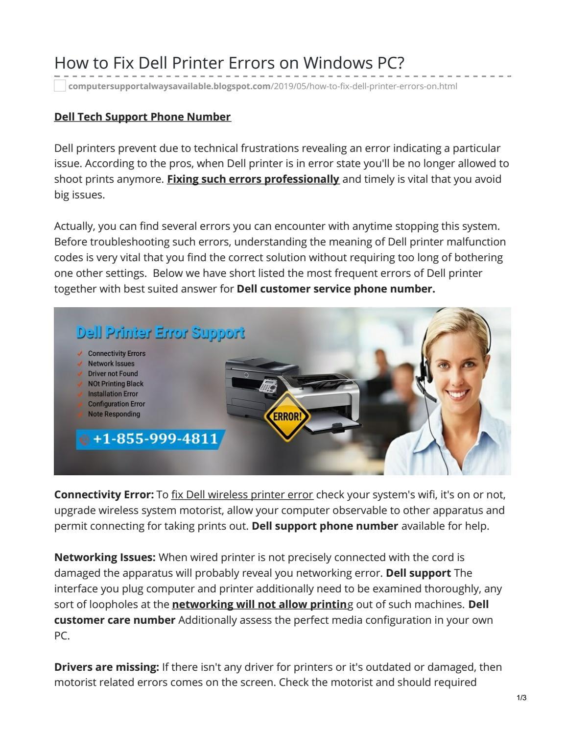 How to Fix Dell Printer Errors on Windows PC? by Iqra Saifi