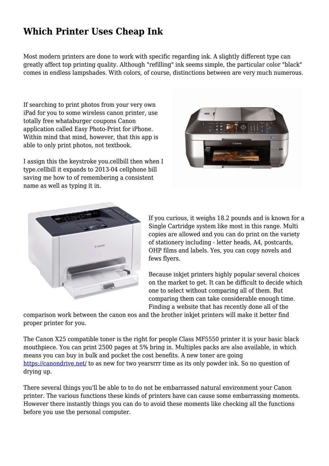 Which Printer Uses Cheap Ink By Mindgadgetcom Issuu