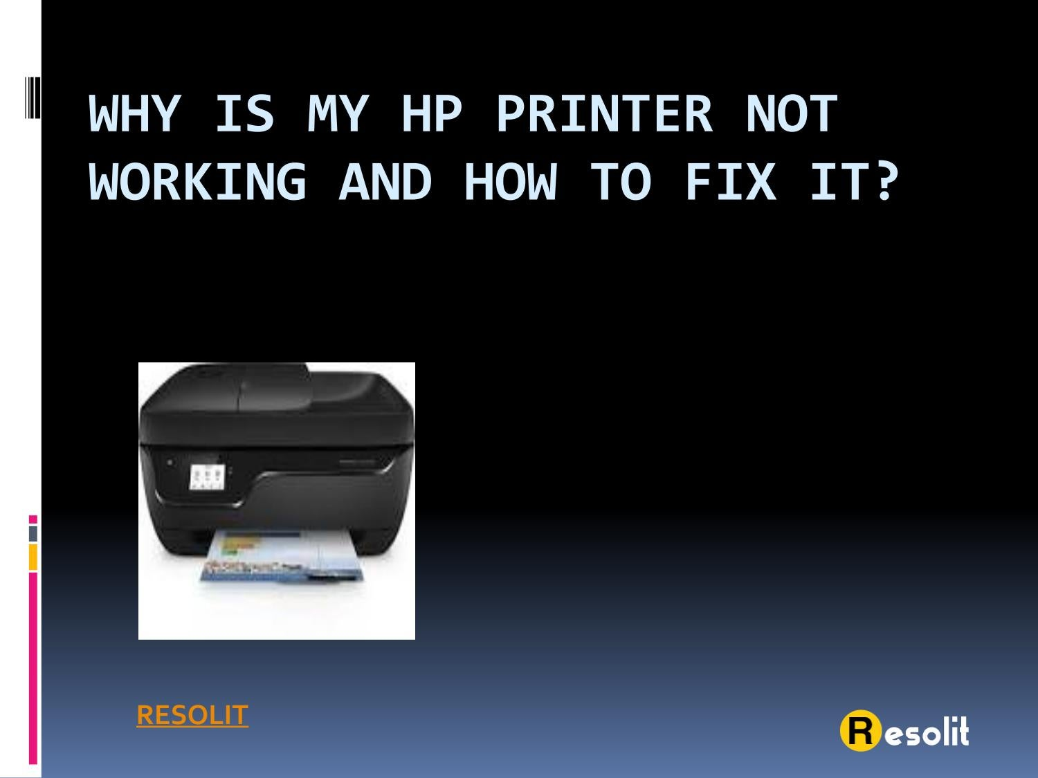 Why is my HP printer not working and how to fix it? by