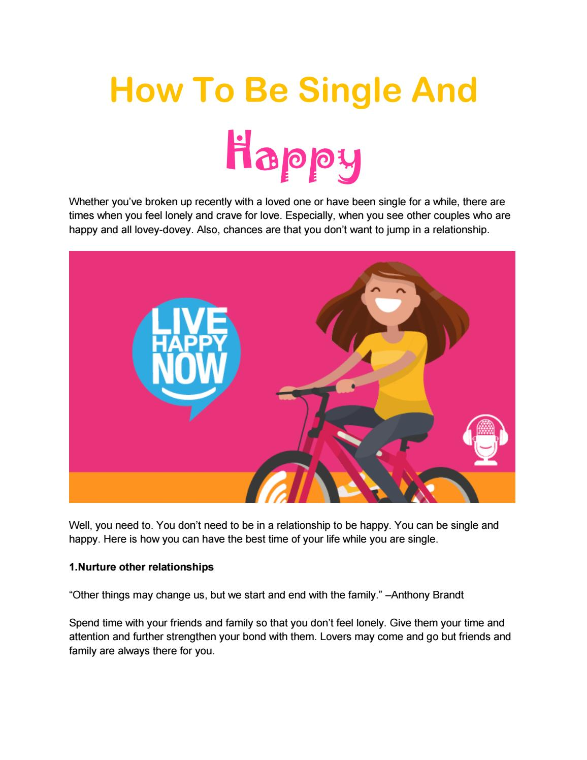 How To Be Single And Happy by Akash kumar   issuu