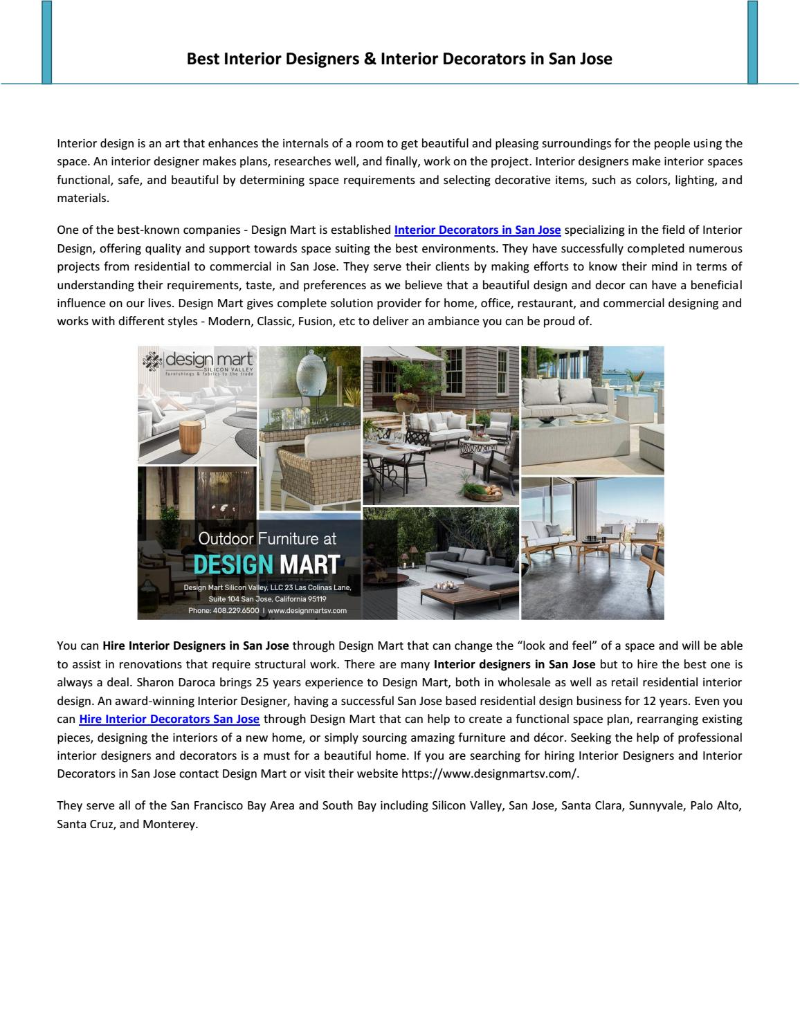 Best Interior Designers Interior Decorators In San Jose By Ethan Lawrence Issuu