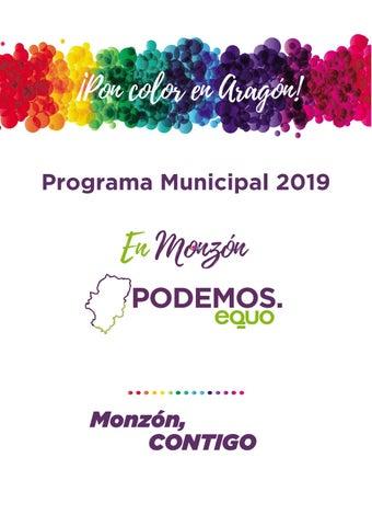 Programa Electoral Monzón 2019 Podemos Equo Monzón By