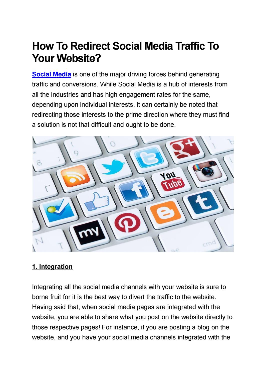 How To Redirect Social Media Traffic To Your Website? by