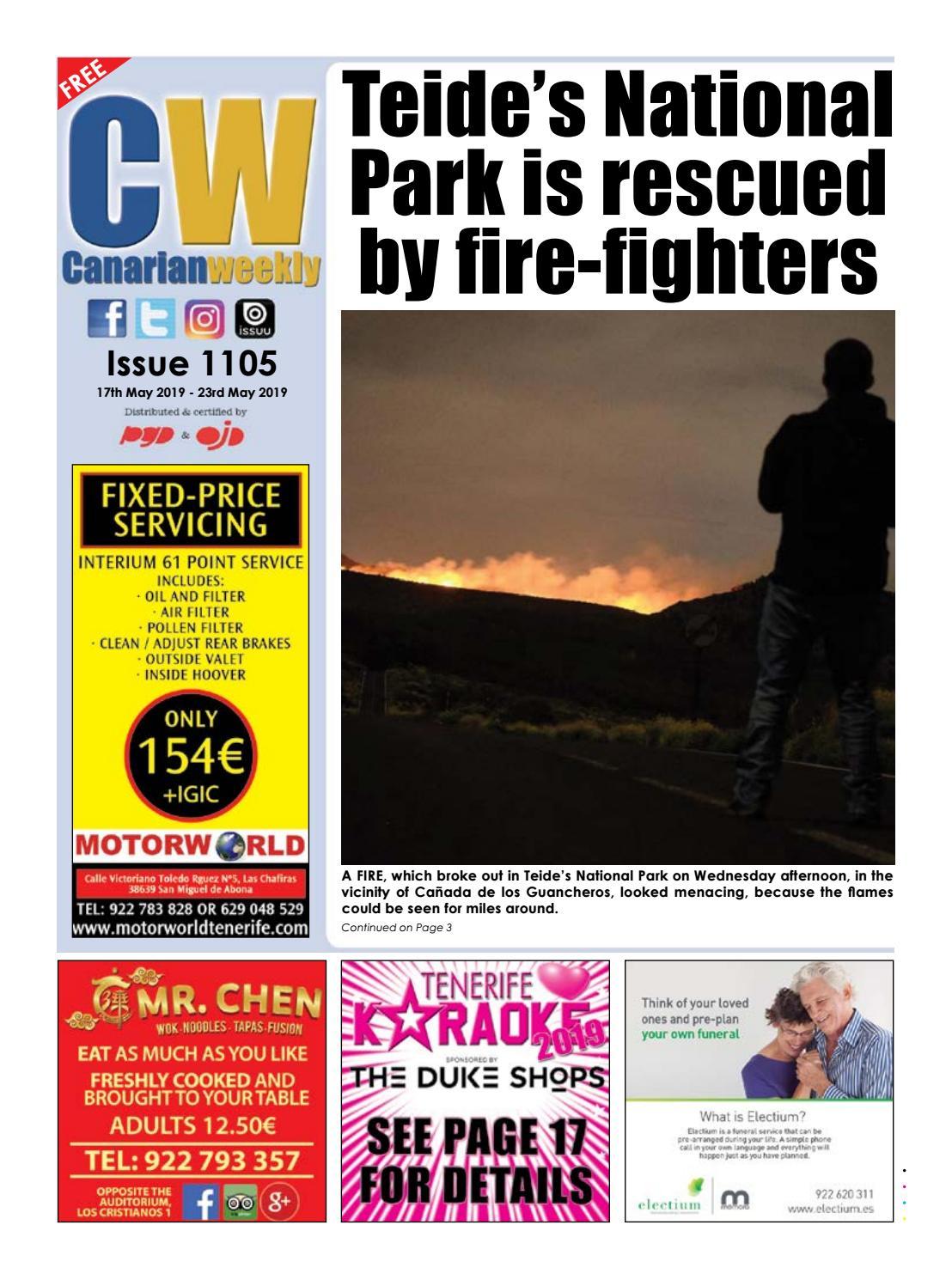 Cw Issue 1105 By Canarian Weekly Issuu