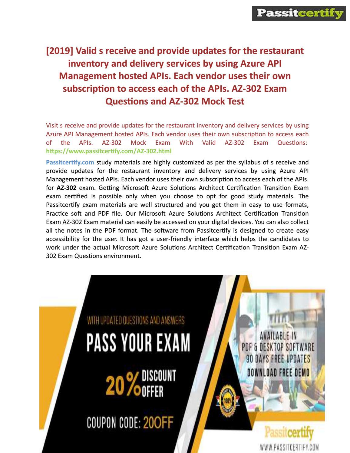 Microsoft Azure Solutions Architect AZ-302 Practice Test by