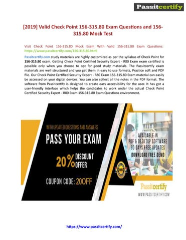 CheckPoint CCSE 156-315 80 Exam Questions And Answers by