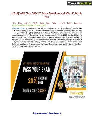 Cisco CCNP Data Center 300-175 DCUCI Exam Practice Test Discount by