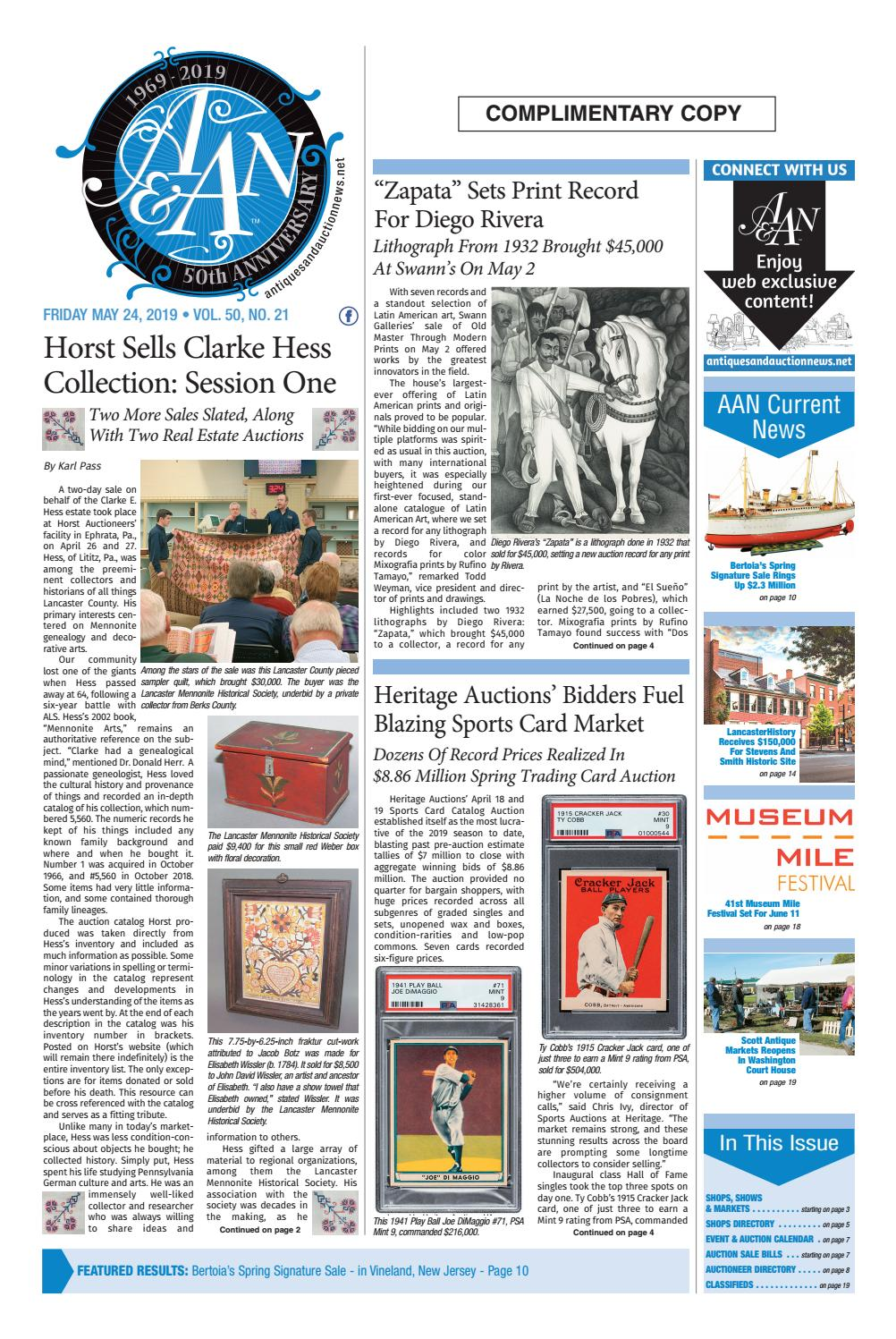 Antiques & Auction News 052419 by Antiques & Auction News