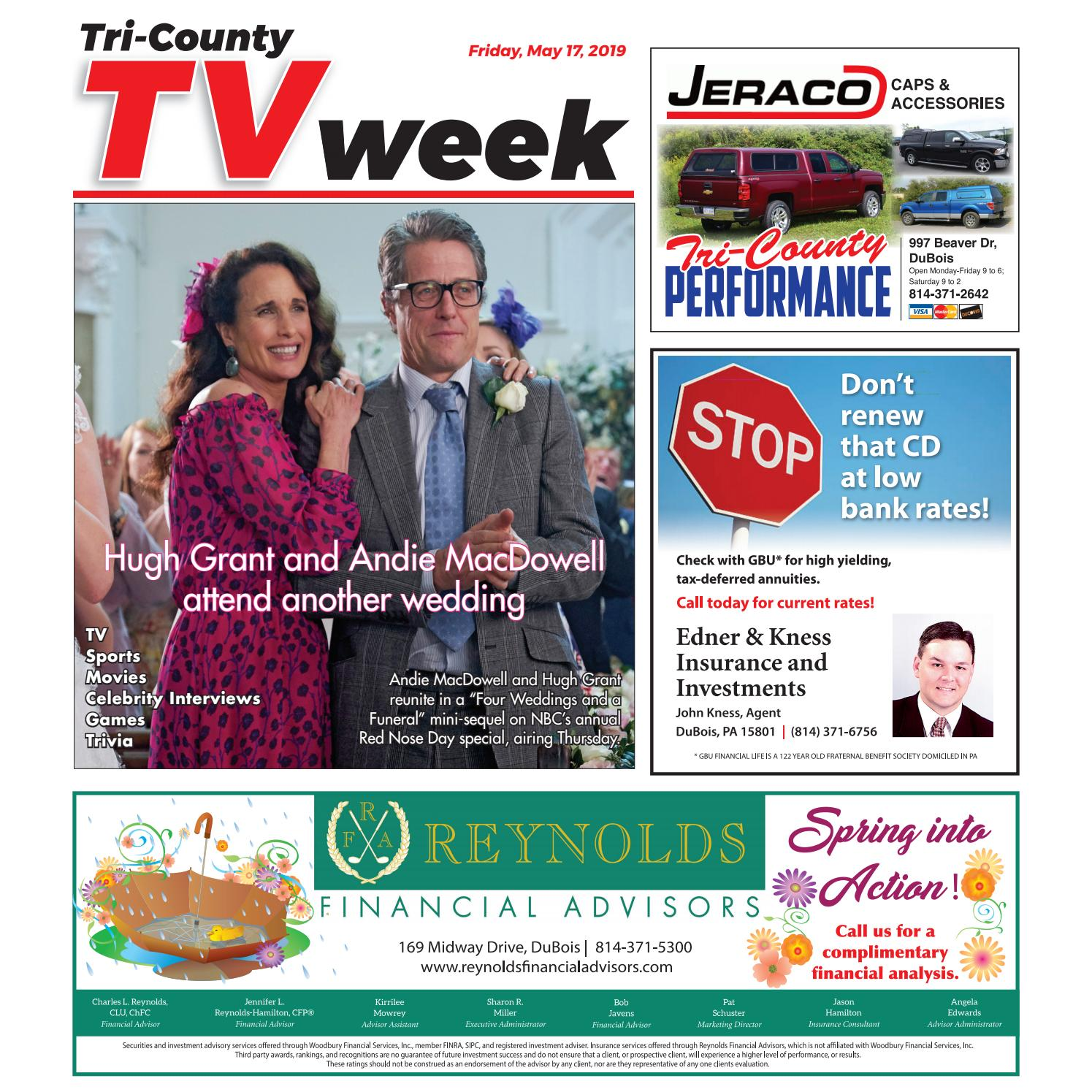 f486e83a4 TV Week, Friday, May 17, 2019 by Tri-County TV Week - issuu