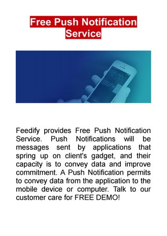 Free Push Notification Service By Andymark449 Issuu