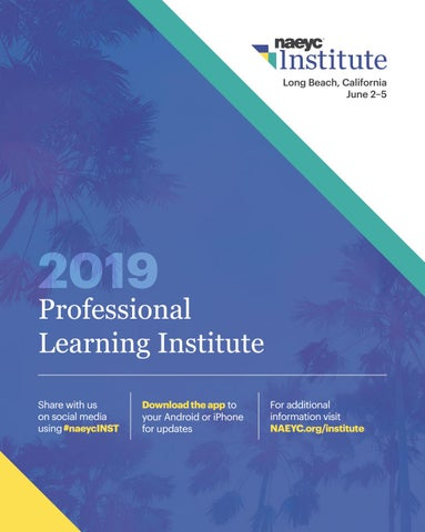 NAEYC 2019 Professional Learning Institute Program by NAEYC