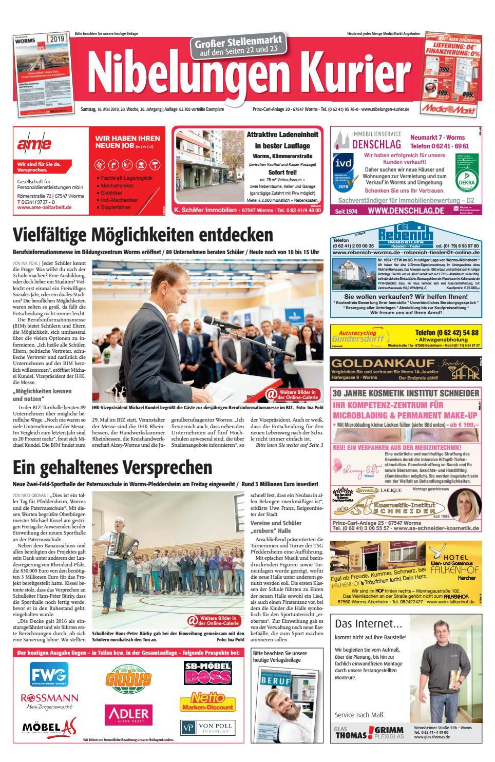 b62cf280461dfa Samstag, 18. Mai 2019, 20. Woche by Nibelungen Kurier - issuu
