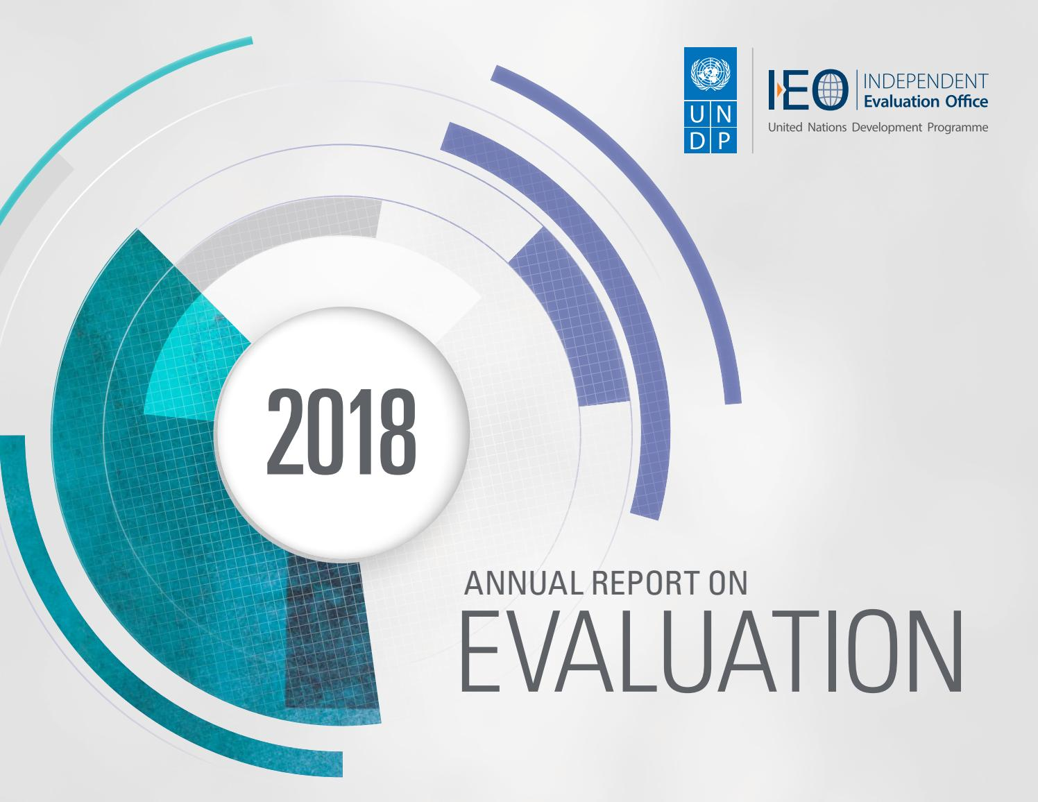Annual Report on Evaluation 2018 by UNDP Independent