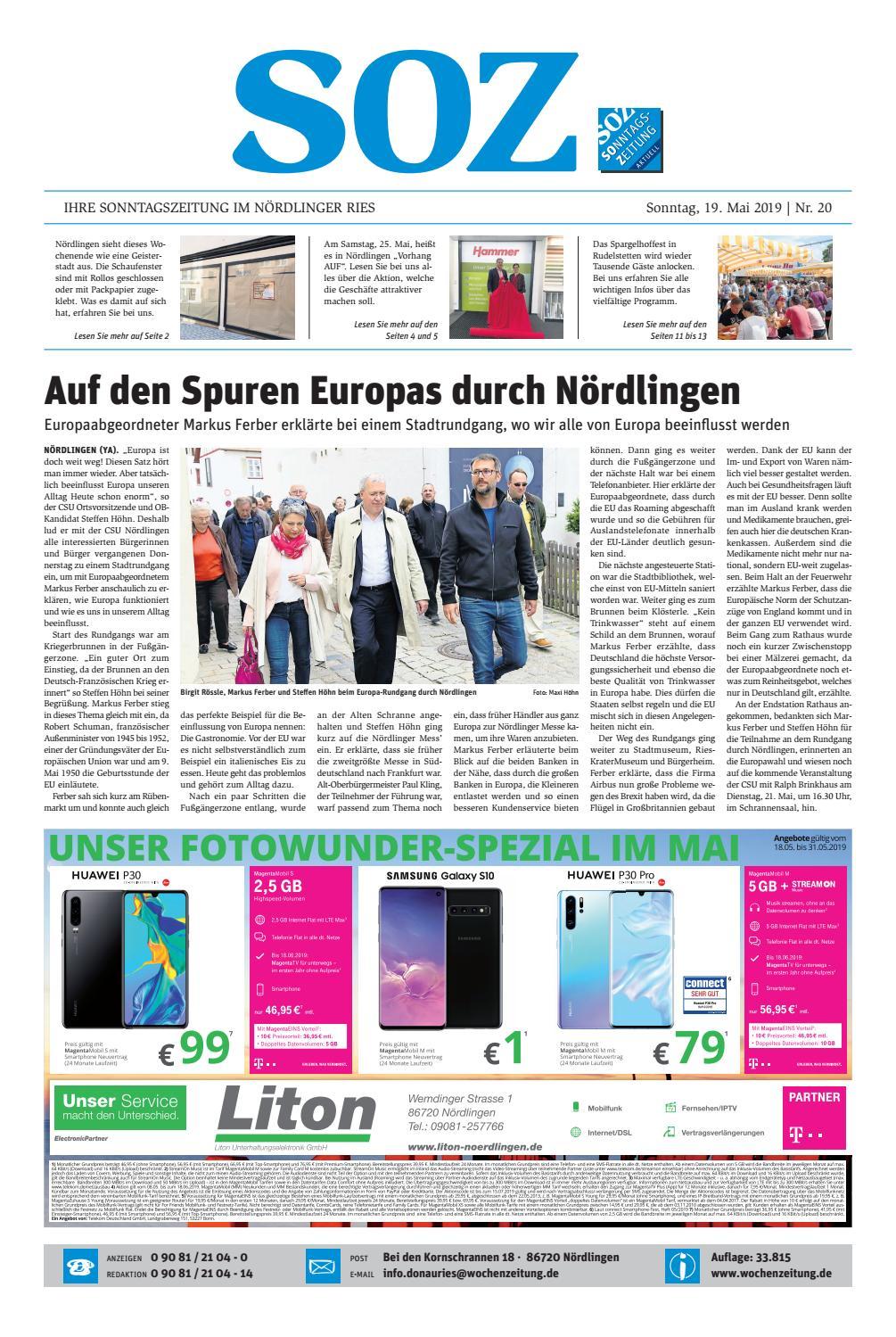 df63290c9c SonntagsZeitung Nördlingen KW 20.19 by WochenZeitung / SonntagsZeitung -  issuu