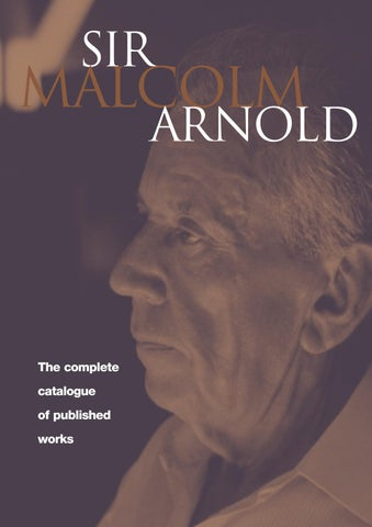 MALCOLM ARNOLD: The Complete Catalogue of Published Works by