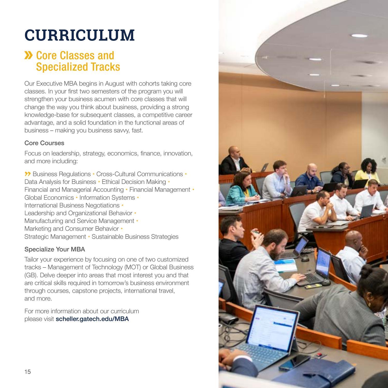 Executive MBA Program at the Georgia Tech Scheller College