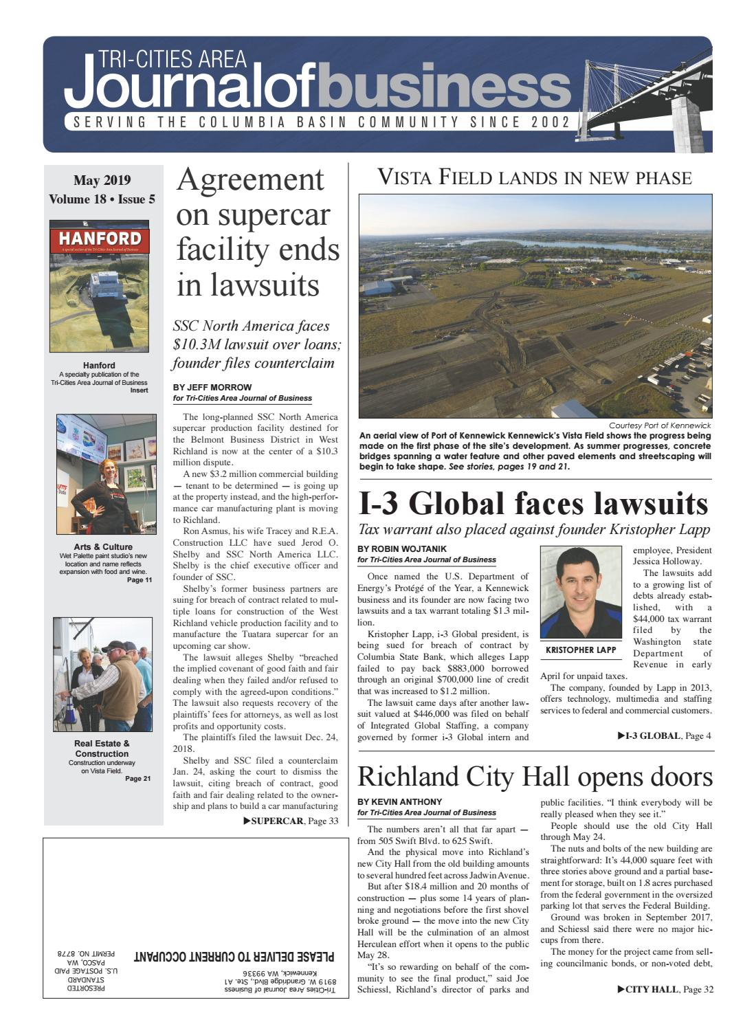 Tri-Cities Area Journal of Business May 2019 by Tri-Cities