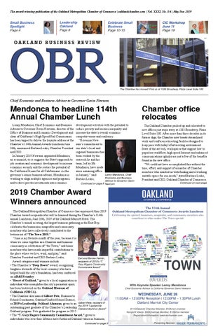 MAY/JUNE 2019 OAKLAND BUSINESS REVIEW by Oakland Chamber of Commerce