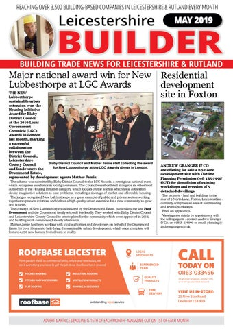 41cbe353 May 2019 Leicestershire Builder Magazine by Michael Wilkinson - issuu