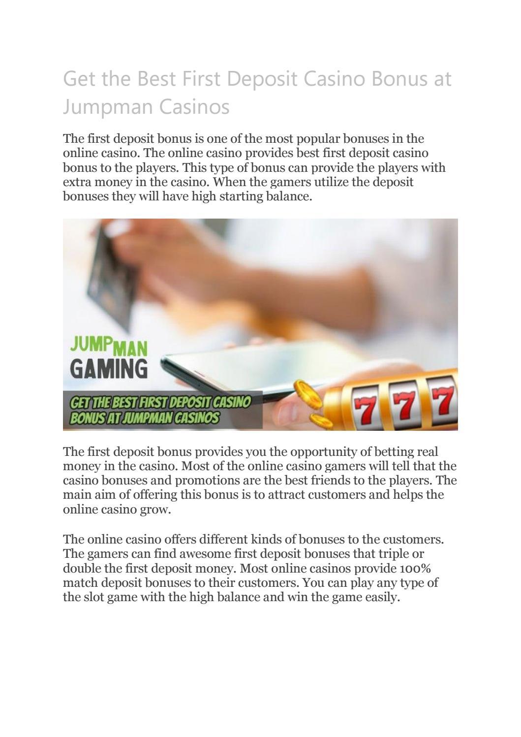 Get The Best First Deposit Casino Bonus At Jumpman Casinos By Playleon Issuu