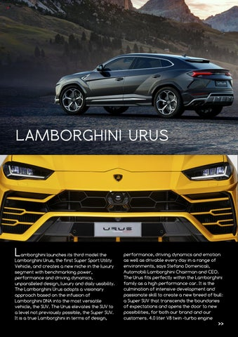 Page 10 of The Lamborghini Urus launches in South Africa