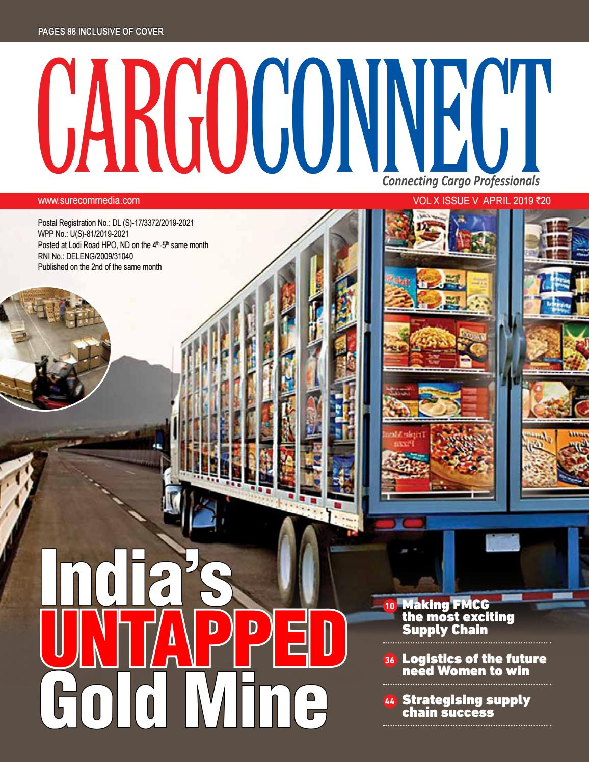 Cargo Connect April 2019 by upamanyu surecommedia - issuu