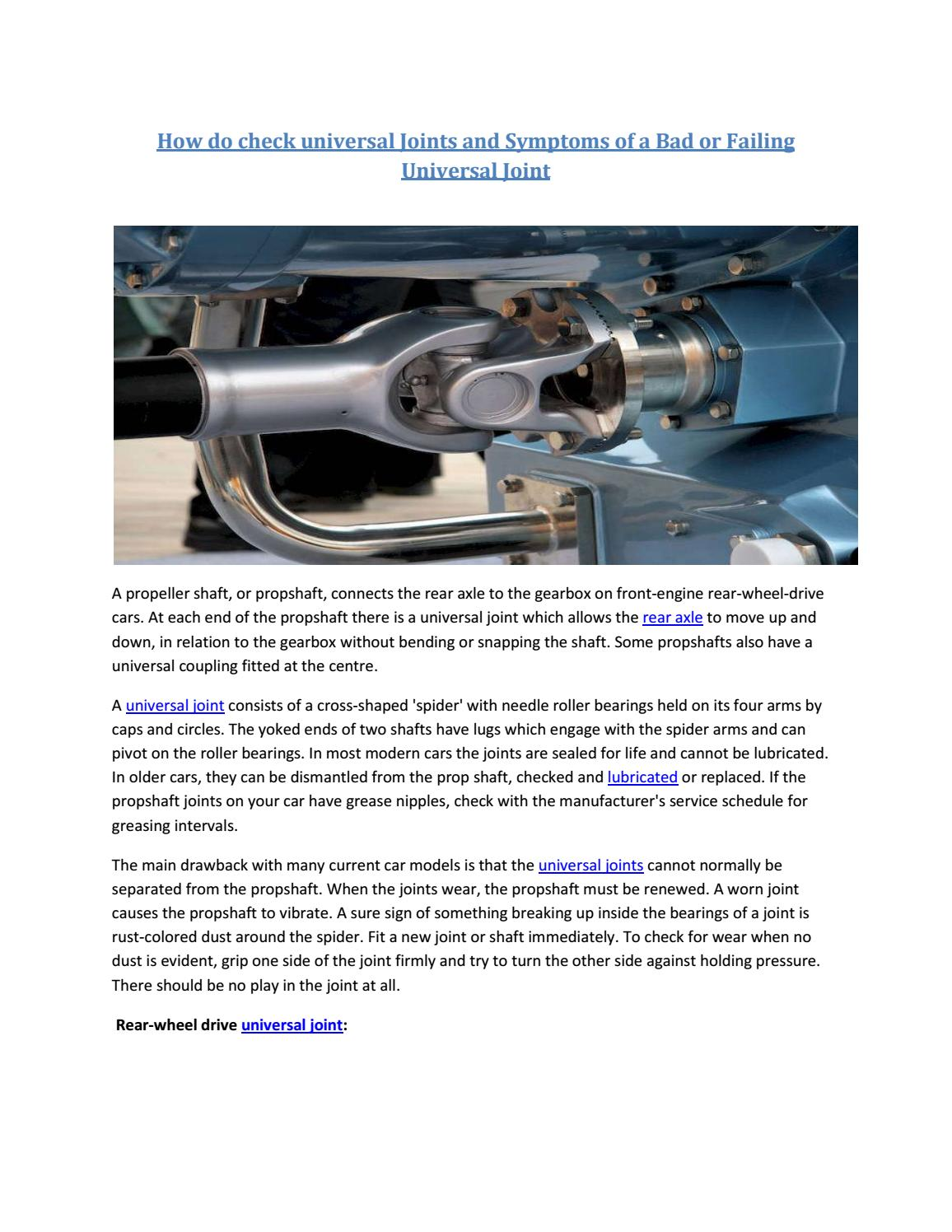 Partsavatar Replacement Parts CA - check universal Joints