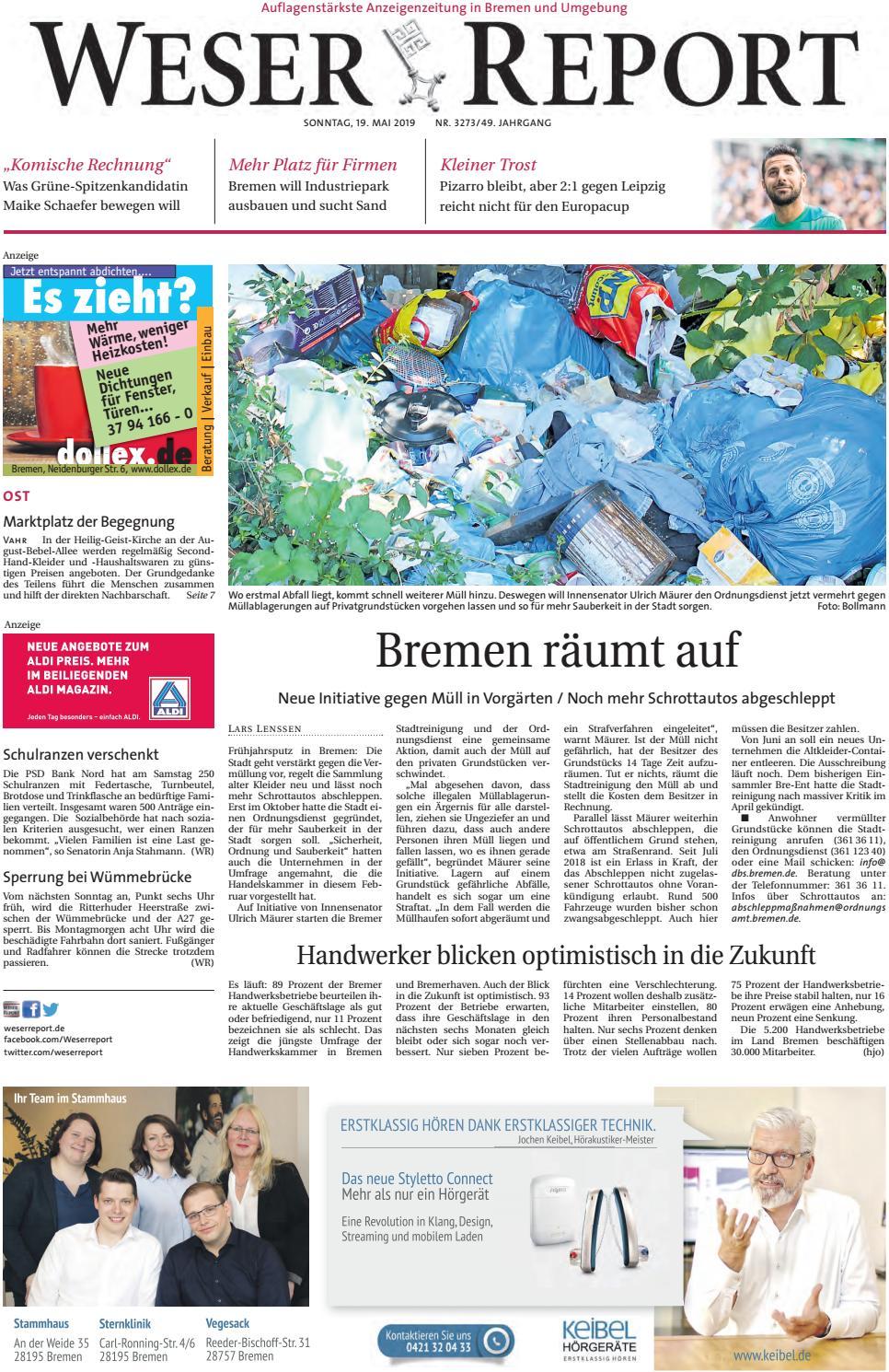 Weser Report - Ost vom 19.05.2019 by KPS Verlagsgesellschaft mbH ...