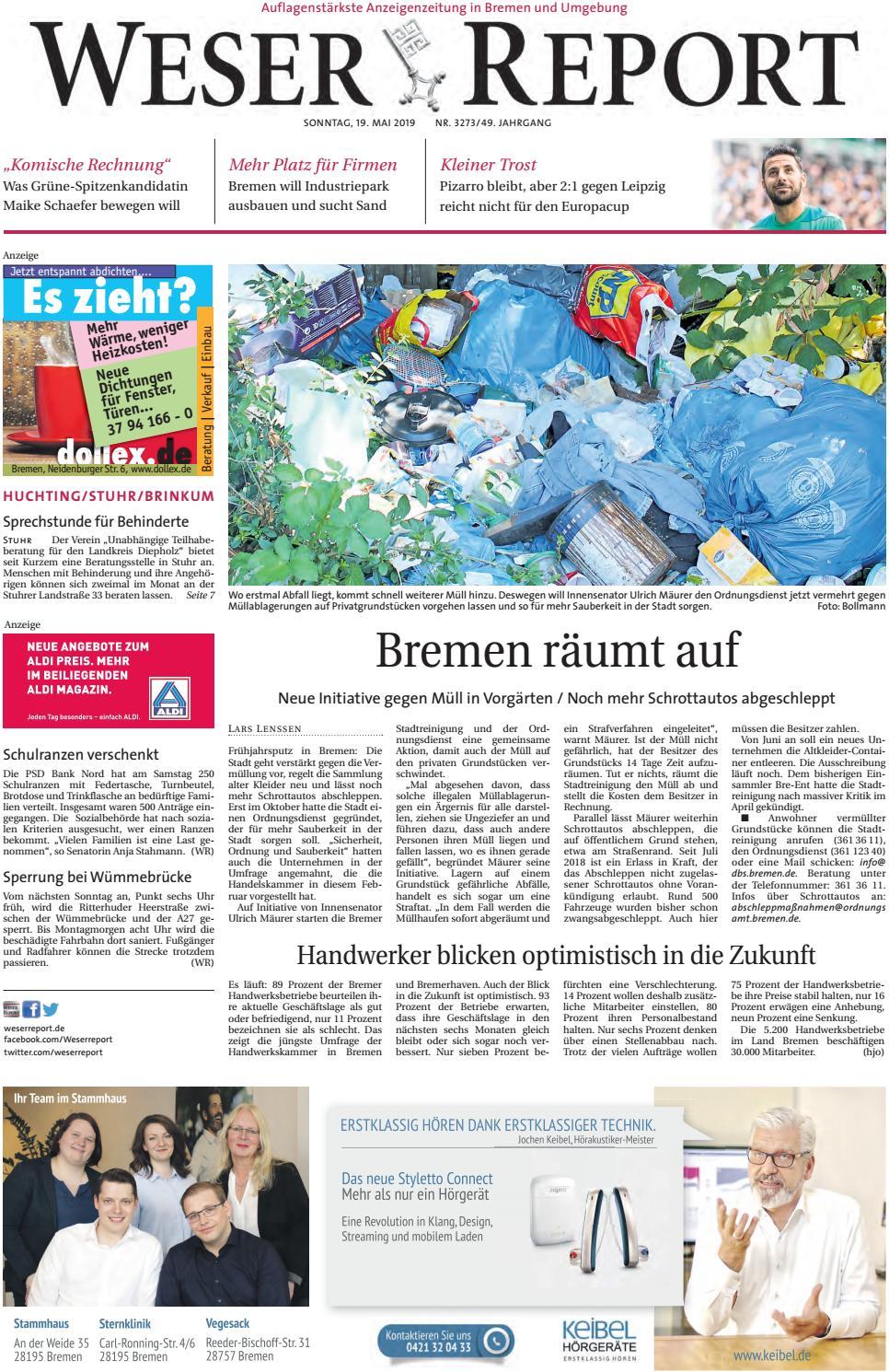 Weser Report Huchting Stuhr Brinkum vom 19.05.2019 by KPS
