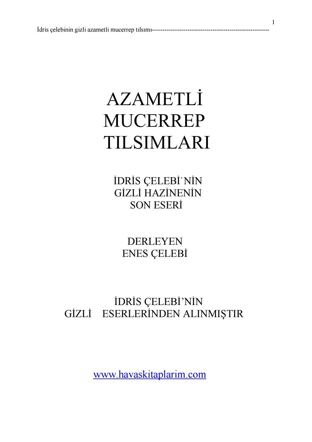 24 Azametli Mucerrep Tilsimlari 348 Sayfa By Ismail Kara Issuu