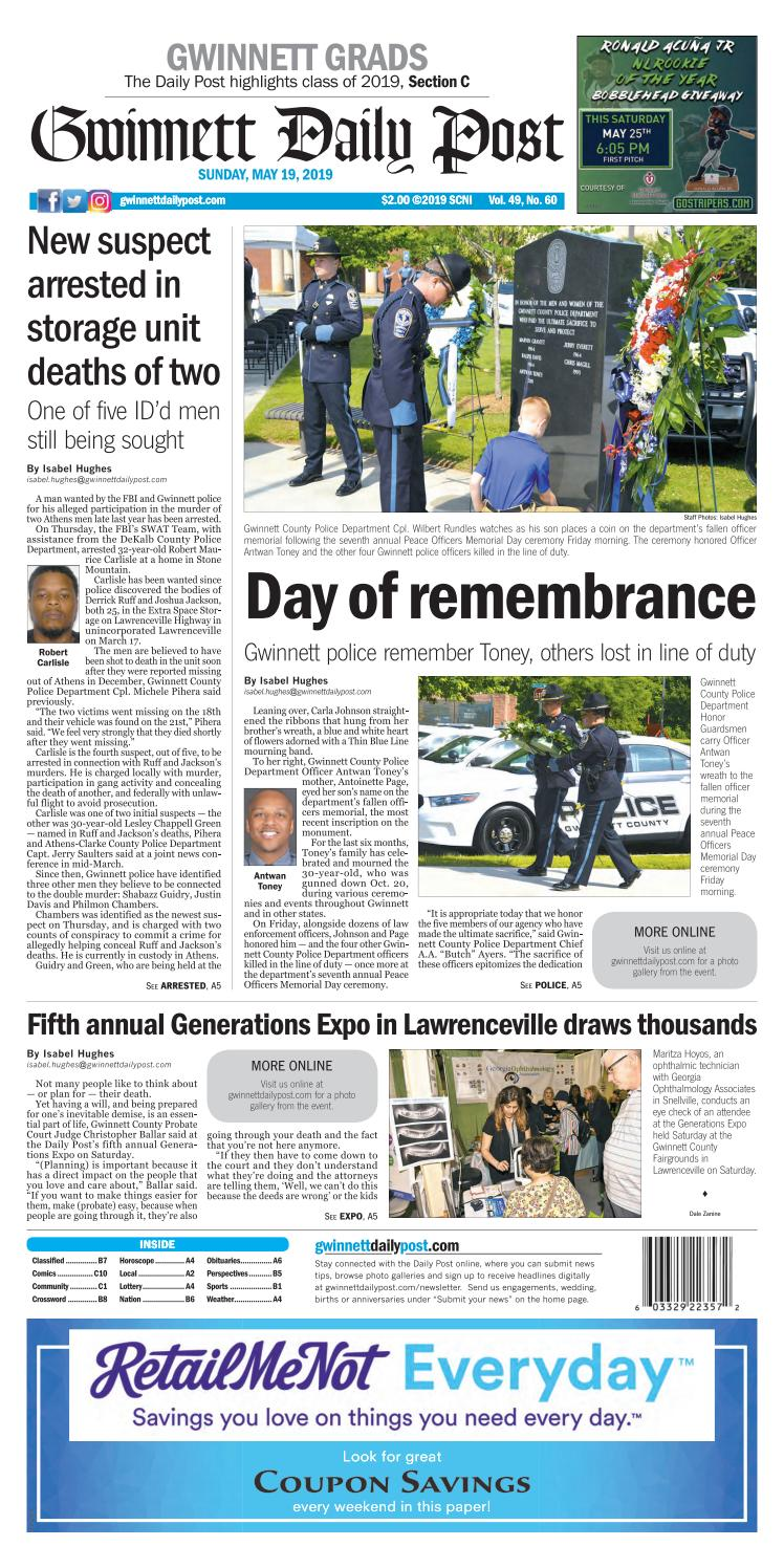 May 19, 2019 — Gwinnett Daily Post by Gwinnett Daily Post