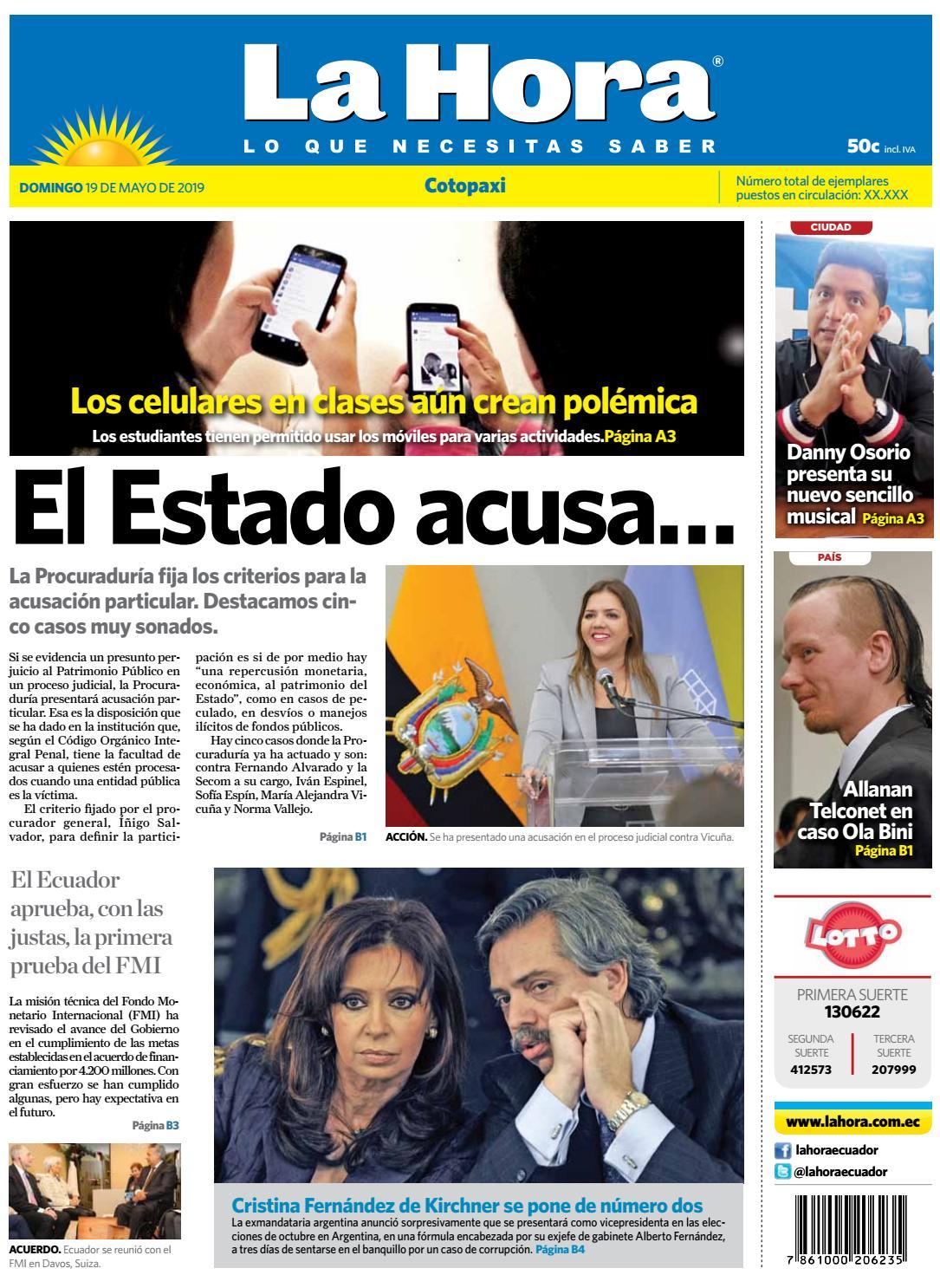 51ee76648935 Cotopaxi 19 de mayo de 2019 by Diario La Hora Ecuador - issuu