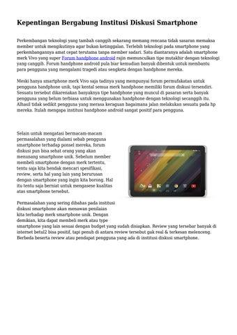 Kepentingan Bergabung Institusi Diskusi Smartphone By Mrteknopusat