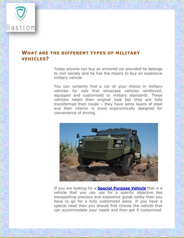 What are the different types of military vehicles? by
