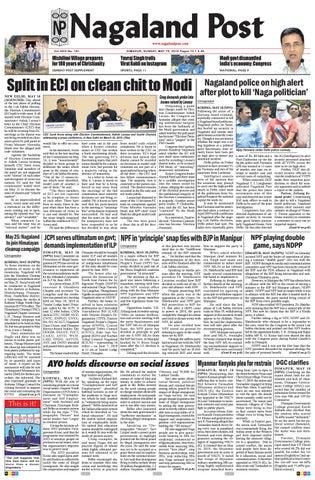May 19, 2019 by Nagaland Post - issuu