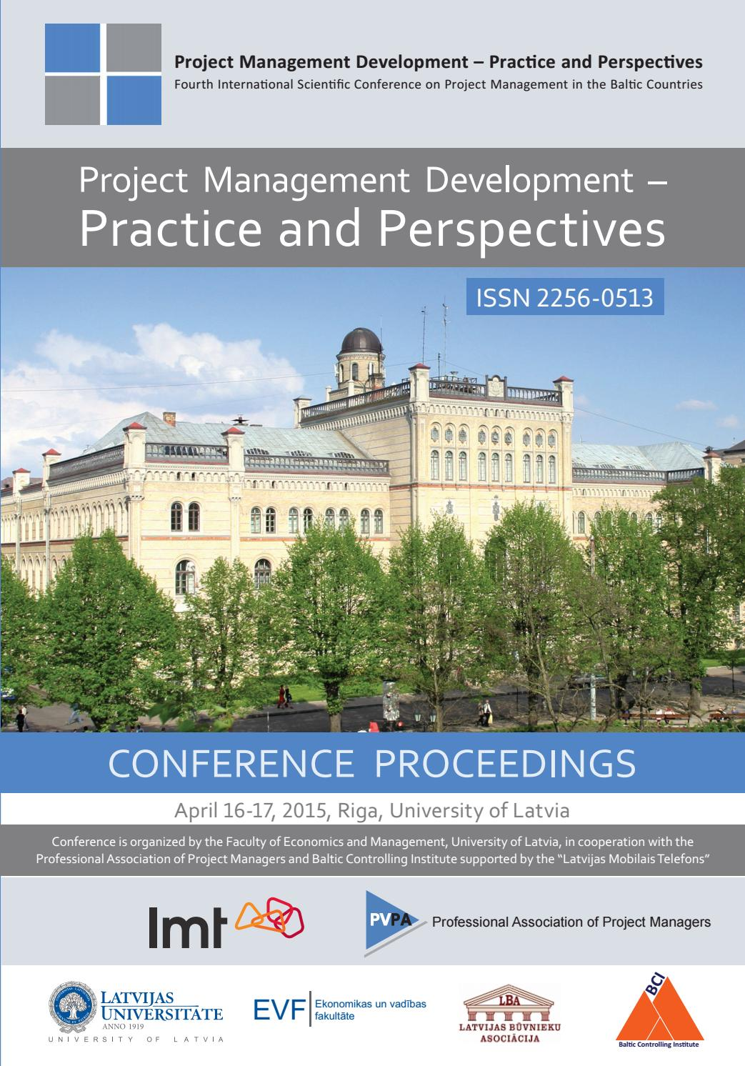 Project Management Development – Practice and Perspectives