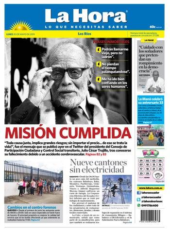 80e2165aff Los Ríos 20 de mayo de 2019 by Diario La Hora Ecuador - issuu