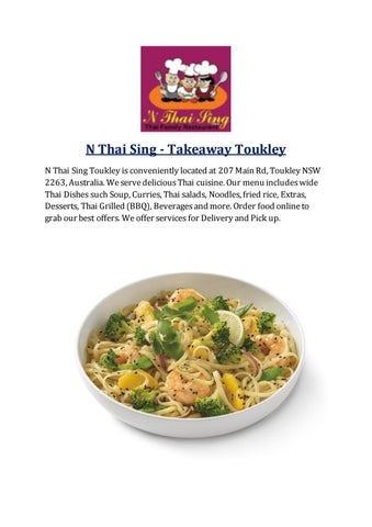 N Thai sing | Thai Food Delivery near me by ozfoodhunter - issuu