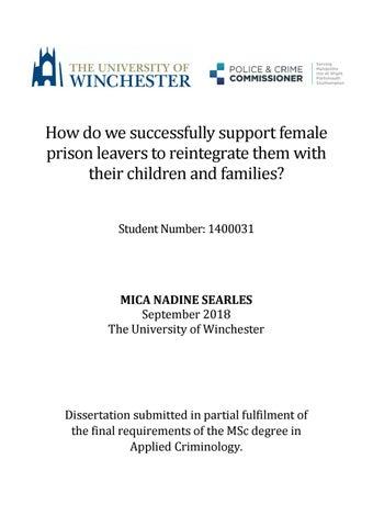 criminology dissertation titles