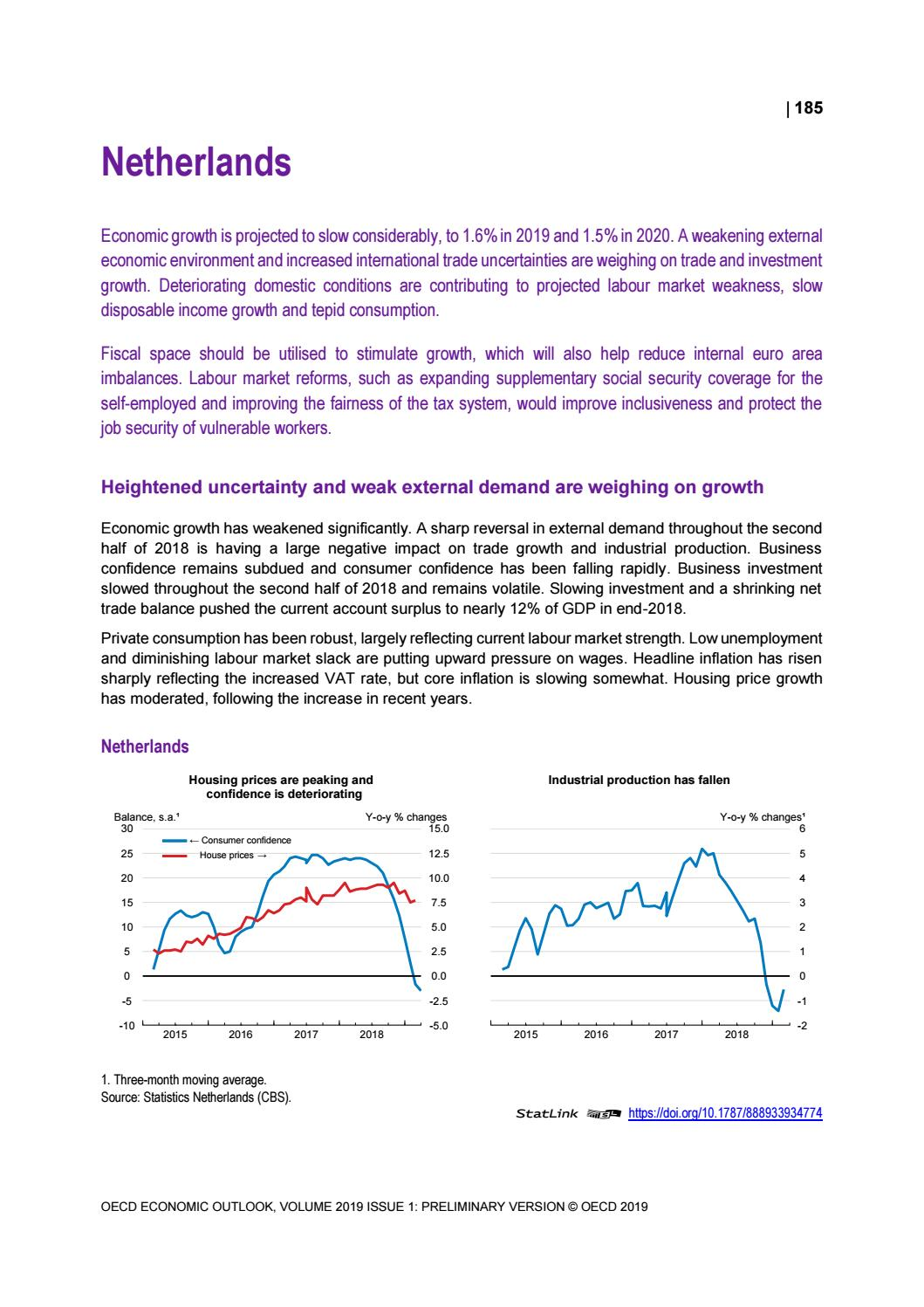 OECD Economic Outlook May 2019, Country Notes: Netherlands