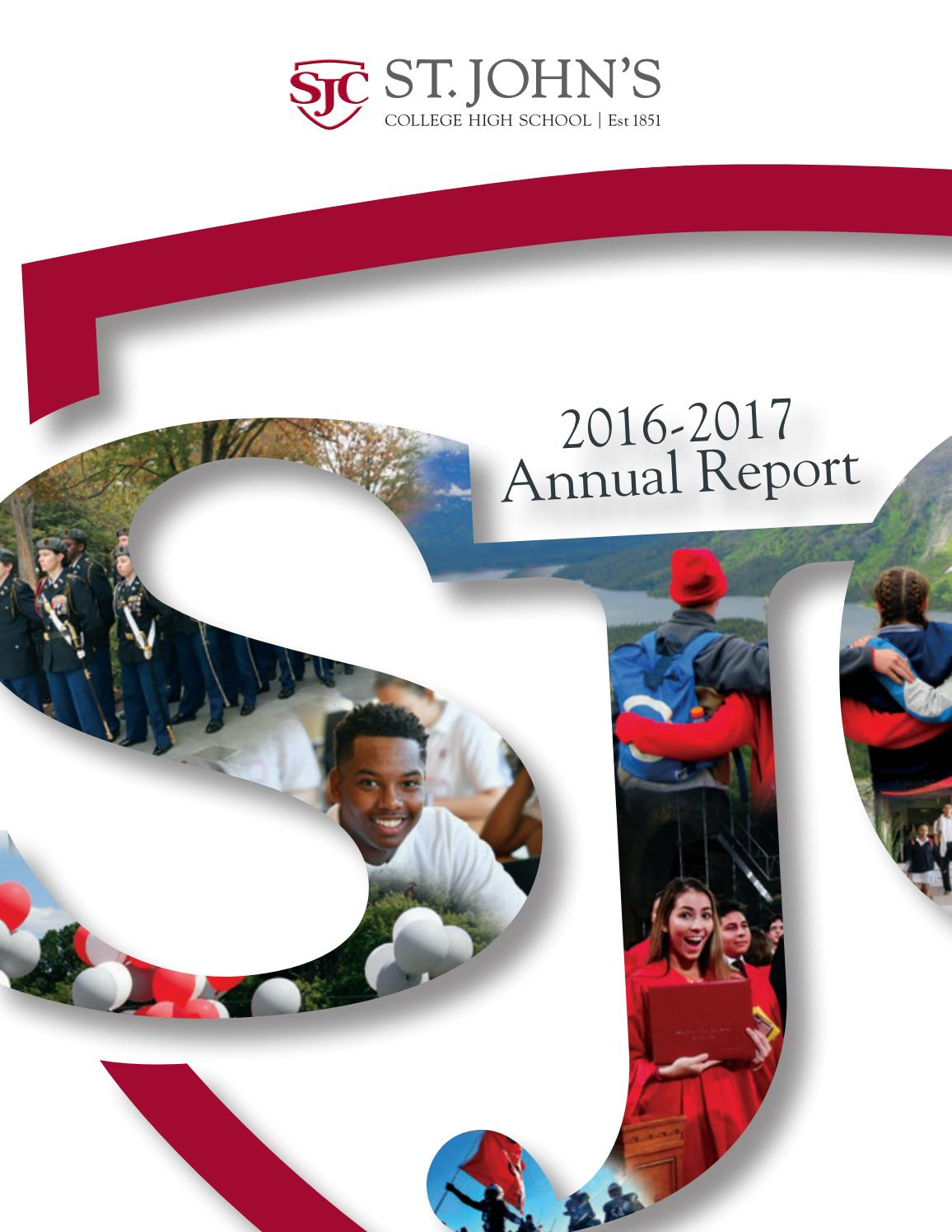 St  John's Annual Report 2016-2017 by St  John's College