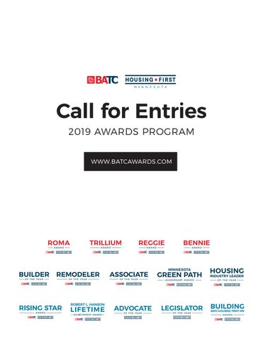 Call For Entries | 2019 Awards Program by BATC-Housing First