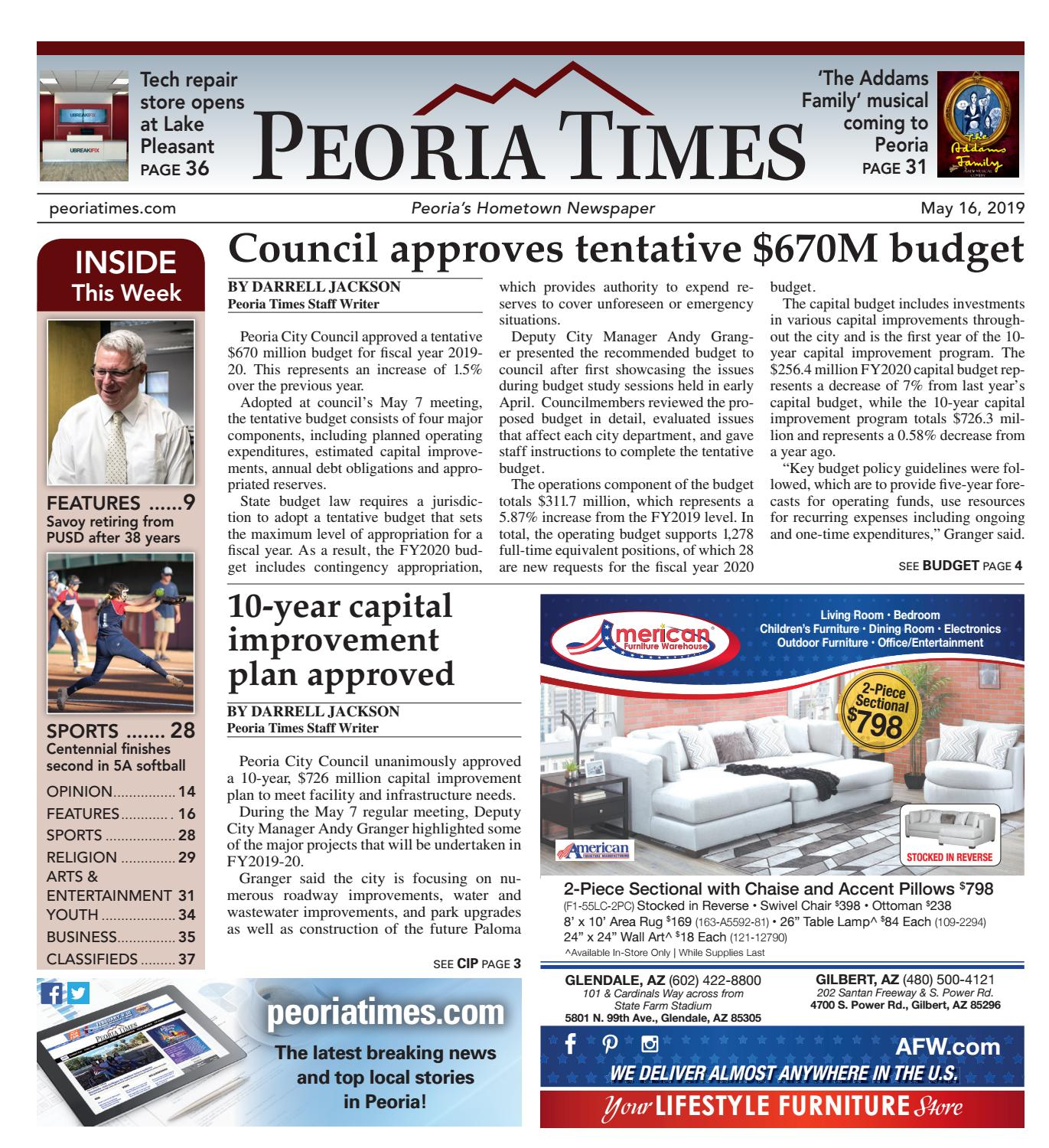 Peoria Times 05-16-2019 by Times Media Group - issuu