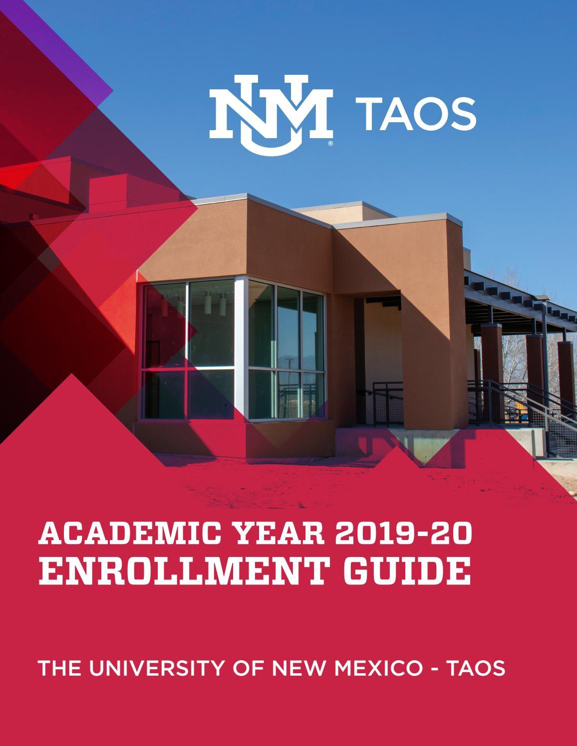 Unm Academic Calendar Fall 2020.Unm Taos Enrollment Guide Academic Year 2019 20 By Unm Taos