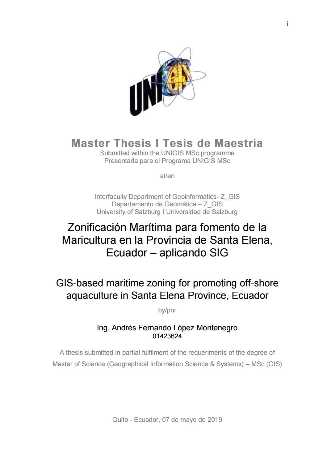 Zonificación Marítima Para Fomento De La Maricultura En La