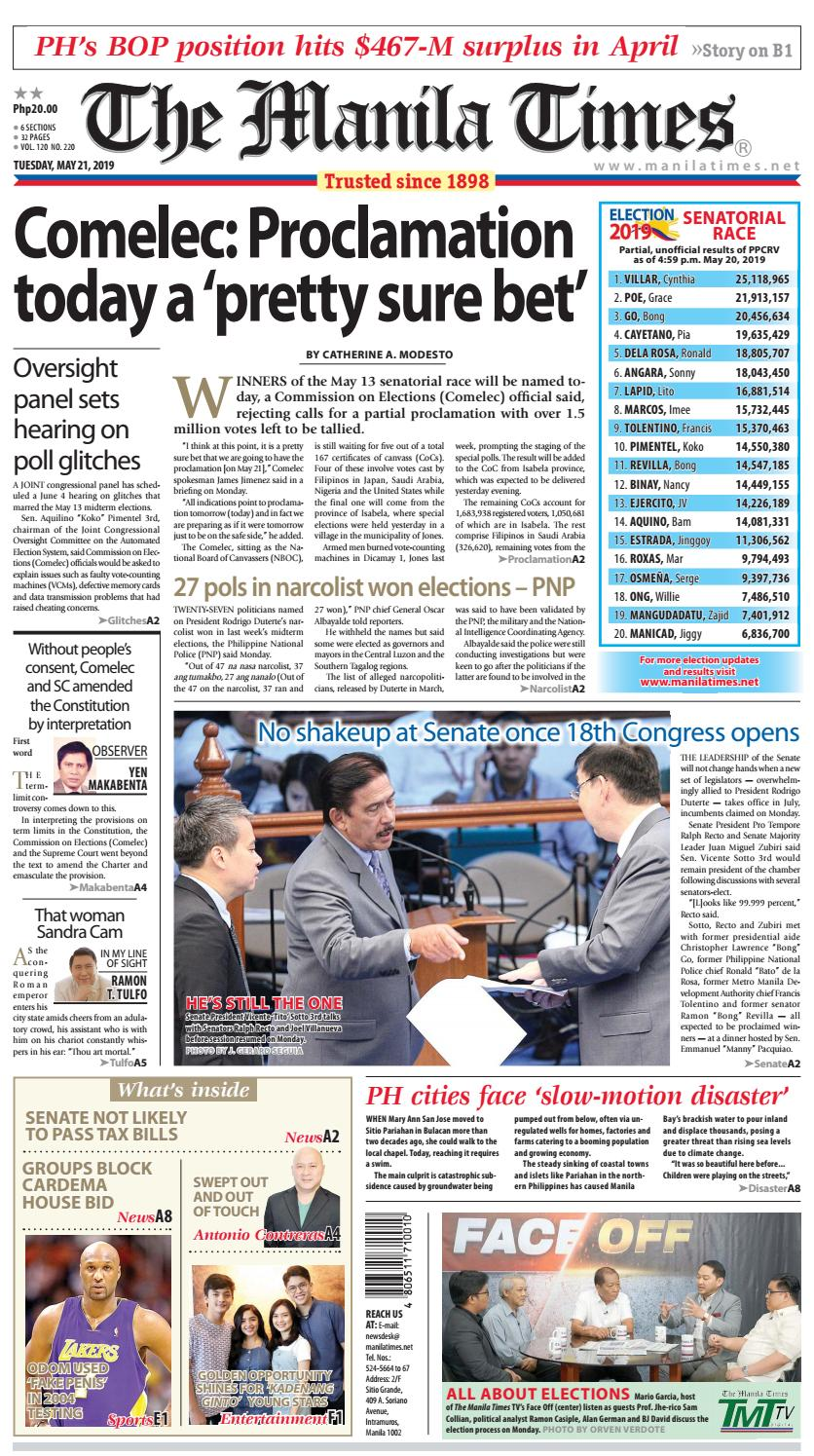 The Manila Times | May 21, 2019 by The Manila Times - issuu