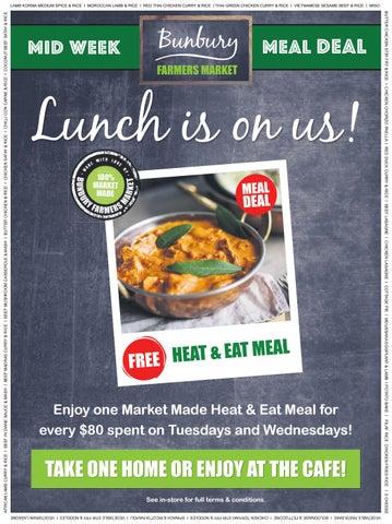 Bunbury Farmers Market - Mid Week Meal Deal, Winter Warming Meals