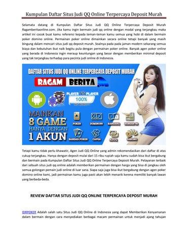 Kumpulan Daftar Situs Judi Qq Online Terpercaya Deposit Murah By Yuliana Ninggsi Issuu